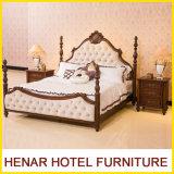Кровать плаката короля Размера Дворца 4 самой последней вишни конструкции деревянная