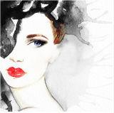 Heißes reizvolles Schönheits-Dame-Segeltuch-Drucken mit Funkeln-Wand-Kunst