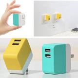 Chargeur mural USB à 2 ports pour téléphone mobile avec prise de courant pliable