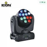indicatore luminoso capo mobile del quadrato LED di 12X10W RGBW per la rondella della parete