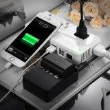 220V para 110V Converter 4 portas USB carregador com Velas Mundial intercambiáveis