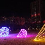 Luz aprovada impermeável da corda do diodo emissor de luz de Ce/RoHS para a decoração ao ar livre