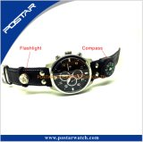 Heiße verkaufenabenteuer-Uhr mit Taschenlampen-und Kompass-Funktion
