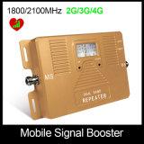 1800/2100MHz double bande 2G, 3G, amplificateur de signal mobile 4G seulement booster