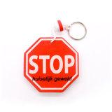 Cadeia de chaveiro de borracha de silicone de presente de promoção