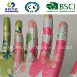 Перчатки сада перчаток безопасности покрынные нитрилом напечатанные