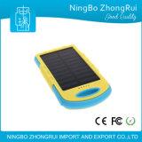 Banco solar da potência do carregador da bateria externa impermeável nova do telefone do banco de uma potência solar de 8000 mAh para todo o telefone móvel
