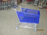 Тележка вагонетки новой покупкы супермаркета типа пластичная