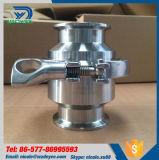 Dn40 valvole di ritenuta sanitarie di Nrv del trifoglio dell'acciaio inossidabile Ss304 tri