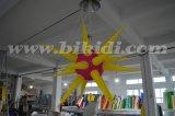 Esfera colorida inflável da iluminação, estrelas infláveis C2022 da esfera da iluminação