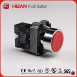 interruptor de pulsador plástico del rojo 220V LED de 22m m