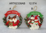 "9 "" Hx19 "" L 산타클로스 눈사람 Doorstopper 크리스마스 훈장 선물 2asst."