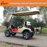 2+2のシートの道の電気ゴルフカートを離れて、シャンペンカラー作動すること容易な自動ゴルフカート