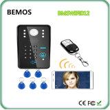 Ночное видение системы внутренней связи дверного звонока Doorphone беспроволочного пароля WiFi RFID видео-