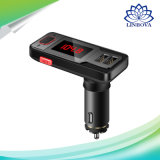 Transmisor FM Bluetooth Car Kit Dual USB Cargador de coche compatible con USB Micro SD Aux-in