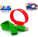 Pulseira de silicone U disco pode ser logotipo personalizado