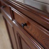 Античный выполненный на заказ твердый шкаф ботинка древесины дуба (GSP16-001)
