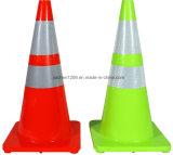 PVC favorável da qualidade superior 700mm do preço de Jiachen com o cone verde do tráfego dos inibidores UV