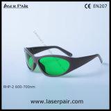 Lasers Rhp-2/gafas de seguridad rojos de laser de rubíes 600-700nm/disponibles para 635nm, 650nm, En 207 del Ce de la reunión 694nm