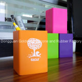 Facoty Direct Selling Presentes promocionais Silicone Square Pen Container