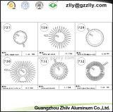 Disipador de calor de aluminio de la Redondo-Dimensión de una variable de la venta caliente de Guangzhou
