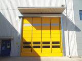 アルミニウムフレームのシャッター急流のドアの上の速い速度PVC自己修理圧延