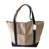 Bolso de totalizador orgánico de encargo del bolso de compras de la tela de algodón de la lona