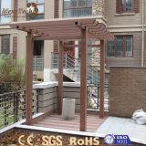 Gazebo composé en bois WPC de jardin extérieur chinois bon marché imperméable à l'eau