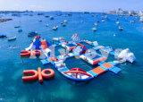 Gioco adulto di galleggiamento caldo di sport del trampolino della sosta dell'acqua di 2017 Infatable per il mare