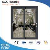 Puerta interior corredera de aluminio con doble acristalamiento templado para el balcón