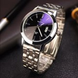 296-S人のカレンダの腕時計の方法水晶ステンレス鋼の背部腕時計
