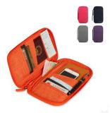 Portatarjetas de múltiples funciones del bolso de embrague del bolso del pasaporte del portatarjetas del recorrido del Algodón-Faux
