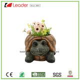 Plantadores Caliente-Vendedores del jardín de la tortuga de Polyresin para los ornamentos del hogar y del jardín