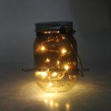 Romantisches LED feenhaftes flackerndes helles Solarglas der Hauptdekoration-