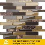 Vendita calda Brown e mosaico orizzontale giallo di cristallo della miscela