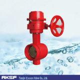 Di/CS/Ss/Di de Materiaal Gegroefte Concentrische Vleugelklep van het Eind van de Klep van Tianjin Exxon