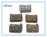 Leopard PU монеты сумка из натуральной кожи