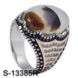 Anel de Prata 925 Prata Anéis de Pedra Natural Natural.
