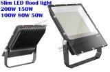 최고 가격 좋은 품질 110lm/W 200 와트 150W 100W LED는 젖빛 유리를 가진 주조 알루미늄 플러드 빛을 정지한다