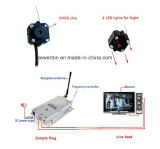 Mini drahtloser Sicherheits-Nachtsicht-Videokamera-Mikronocken-komplettes System