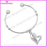 Braccialetti dei Chams del cuore & acciaio inossidabile del braccialetto delle donne dei braccialetti