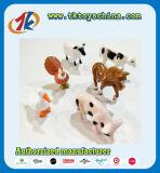 Jouets mignons d'animaux de cour de jeux d'animaux de ferme