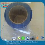 Folha horizontalmente marcada e nylon reforçada da cortina antiestática azul desobstruída da tira do PVC