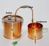 strumentazione di preparazione della birra del mestiere del POT del rame di Moonshine del distillatore dell'acqua 10L/3gallon