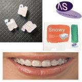 Parentesi di ceramica ortodontica dentale con il Mbt di Roth