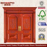Portelli di legno esterni della doppia entrata nei UAE (GSP1-003)