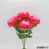 Arbre artificiel / plastique / soie Flower Peony Bush (3109011-7)