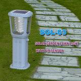 Alta calidad todo en una lámpara solar del césped del LED para al aire libre