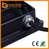 100W AC85-265VはIP67屋外の照明黒のケースの細い穂軸LEDのフラッドライトを防水する