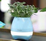 Haut-parleur chaud de Bluetooth de la vente 2017 jouant le bac de fleur intelligent de musique avec l'éclairage LED de contact